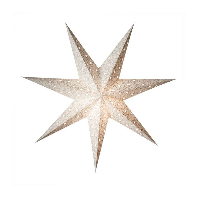 Earth fiendly lampe, starlightz cristal white, hvid fra earth friendly fra superlove