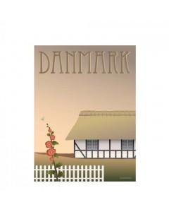 Vissevasse Plakat 30x40 cm, Danmark - Bondehuset