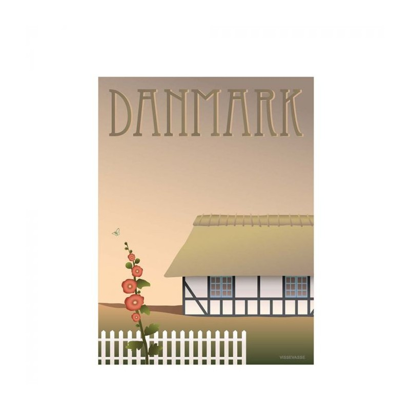 Vissevasse plakat 30x40 cm, danmark - bondehuset fra vissevasse fra superlove