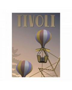 Vissevasse Plakat 50 x 70 cm, Tivoli Ballongyngerne
