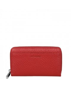 Decadent Pung, Medium Zip Wallet, Red