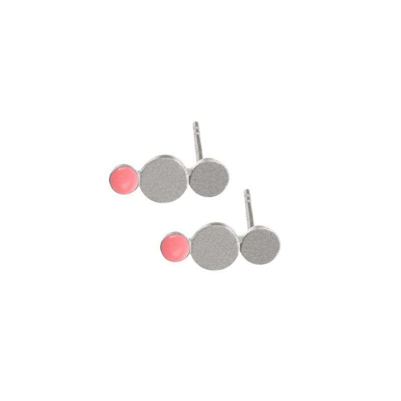scherning – Scherning øreringe, trio, sølv/rosa fra superlove