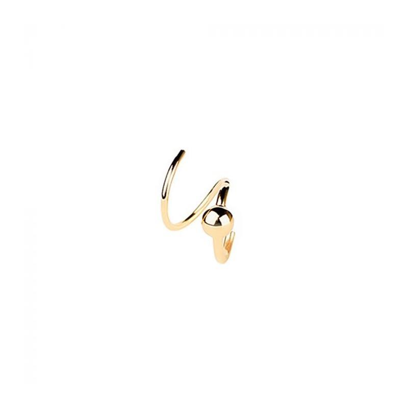 Maria black ørering, helix twirl højre, guld fra maria black fra Edgy
