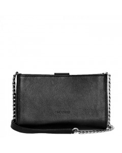 Decadent Taske, Rose Cross Body w. Chain, Black