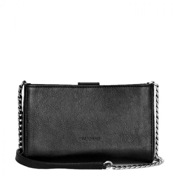 Image of   Decadent Taske, Rose Cross Body w. Chain, Black