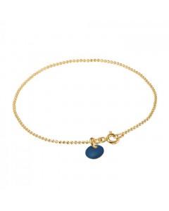 Enamel Armbånd, Ball Chain, Guld/Navy