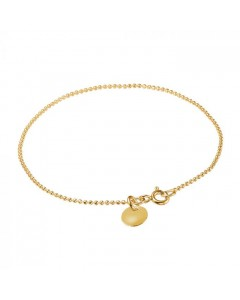 Enamel Armbånd, Ball Chain, Guld