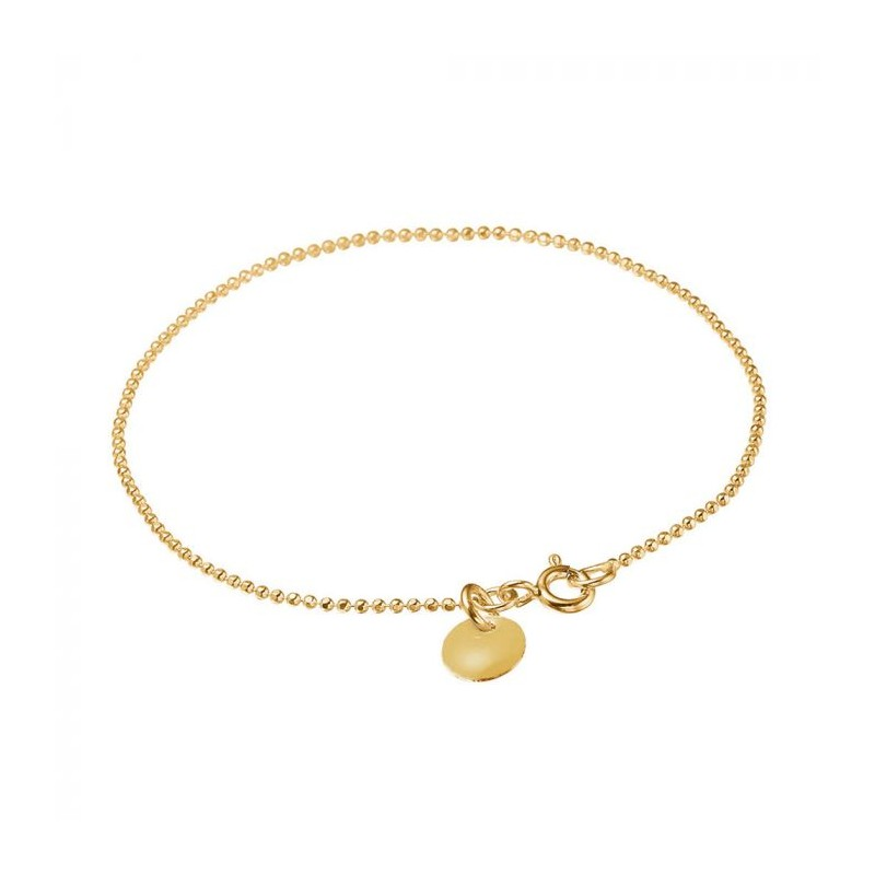 enamel – Enamel armbånd, ball chain, guld fra superlove