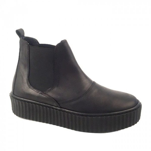 Lbdk ankelstøvle m/plateau, sort - størrelse - 37 fra lbdk sko på Edgy.dk