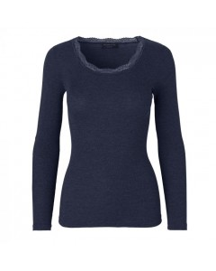 Rosemunde Uld T-shirt m/Blonde, Navy