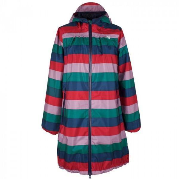 danefæ – Danefæ regnfrakke, helen m/striber, multi - størrelse - l fra superlove