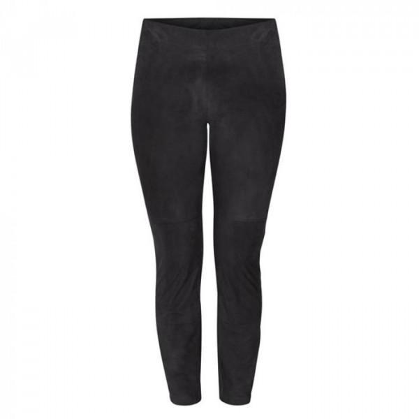 And less bukser i ruskind, tananger, sort - størrelse - 36 fra and less fra superlove