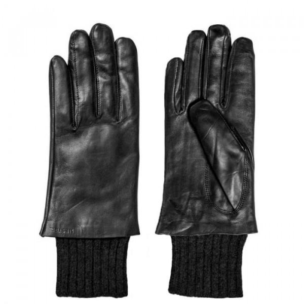 gaucho – Hestra skindhandsker, megan, sort - størrelse - 8 fra superlove