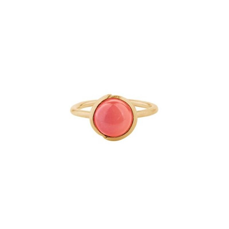 pernille corydon Pernille corydon ring, aura coral, guld - størrelse - 55 fra superlove
