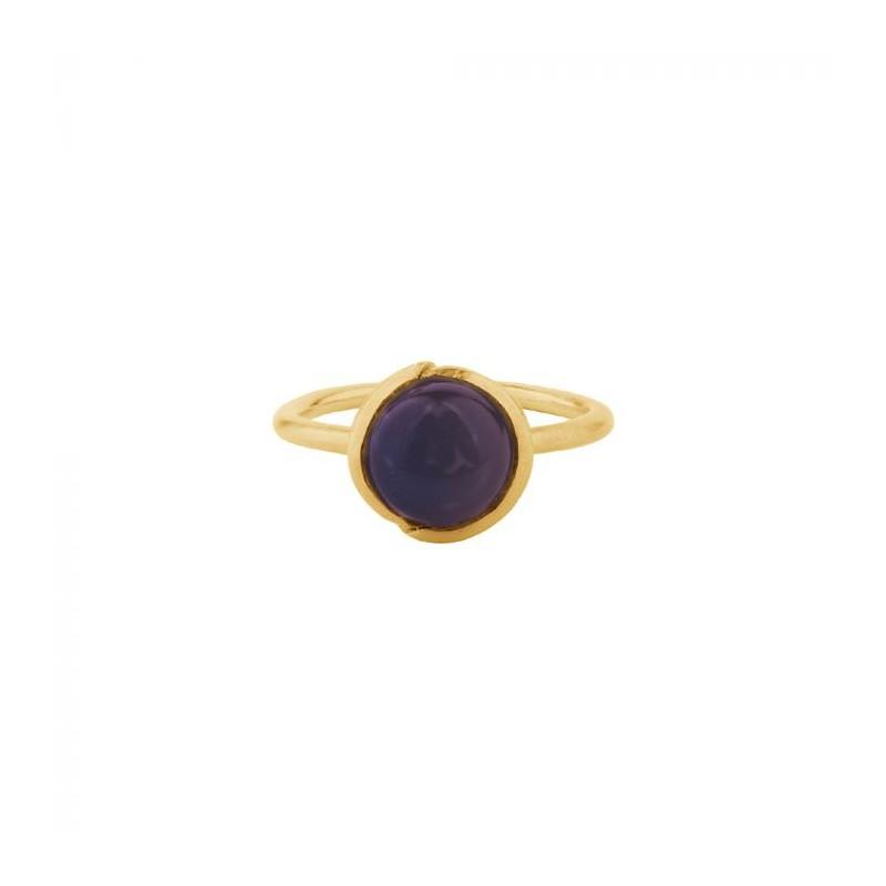 pernille corydon Pernille corydon ring, aura amethyst, guld - størrelse - 52 fra superlove