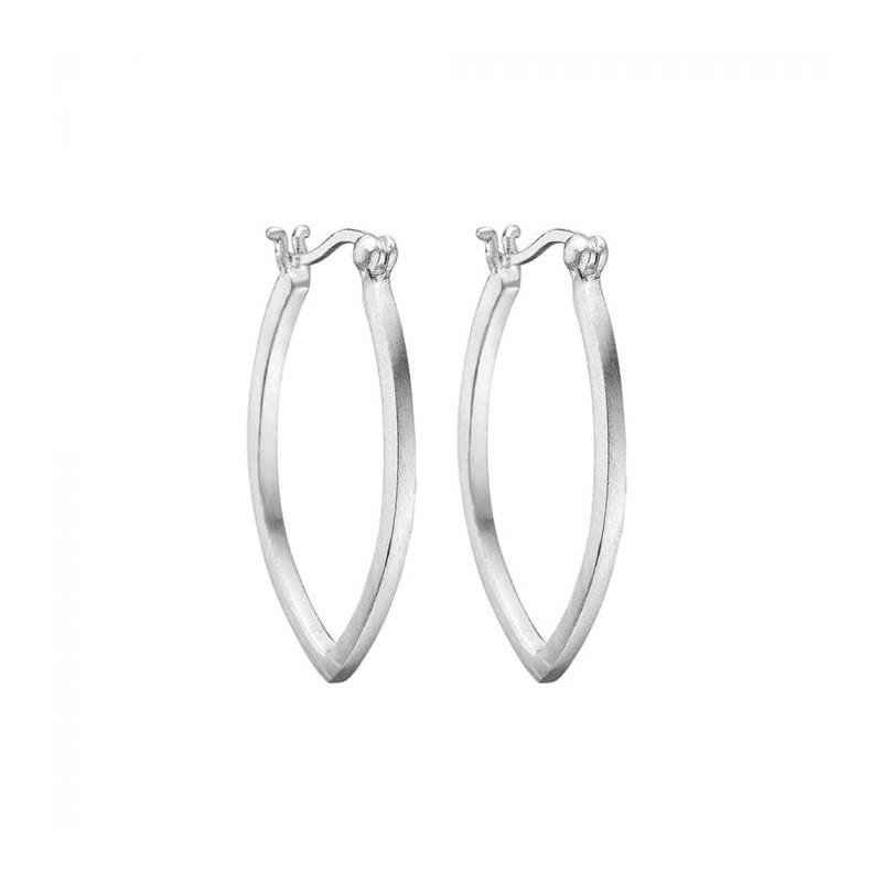 enamel – Enamel øreringe, drop loop, sølv fra superlove
