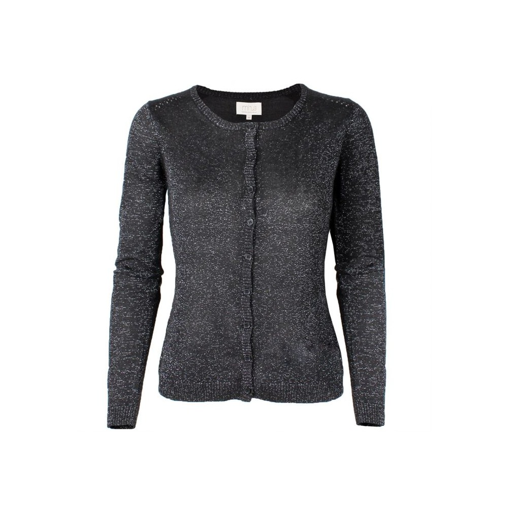 Image of   Minus Cardigan, New Laura, Sort/Glitter