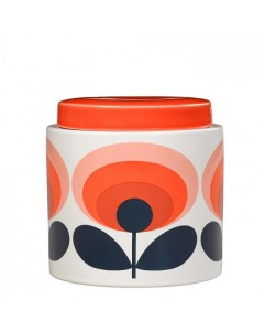 Orla Kiely Krukke, 70s Oval Flower, Orange