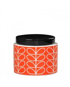 Orla Kiely Lille Krukke, Linear Stem, Orange