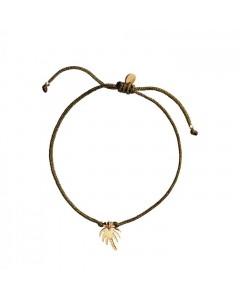 Stine A Armbånd, Petit Palm, Guld/Grøn