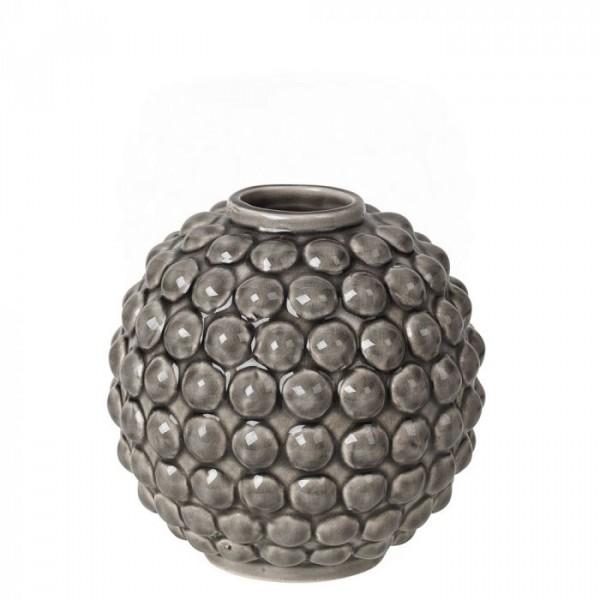 Image of   Broste Copenhagen Vase, Dotty h14, Grå