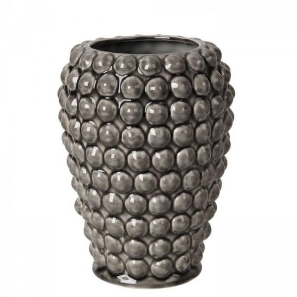 Image of   Broste Copenhagen Vase, Dotty h20, Grå