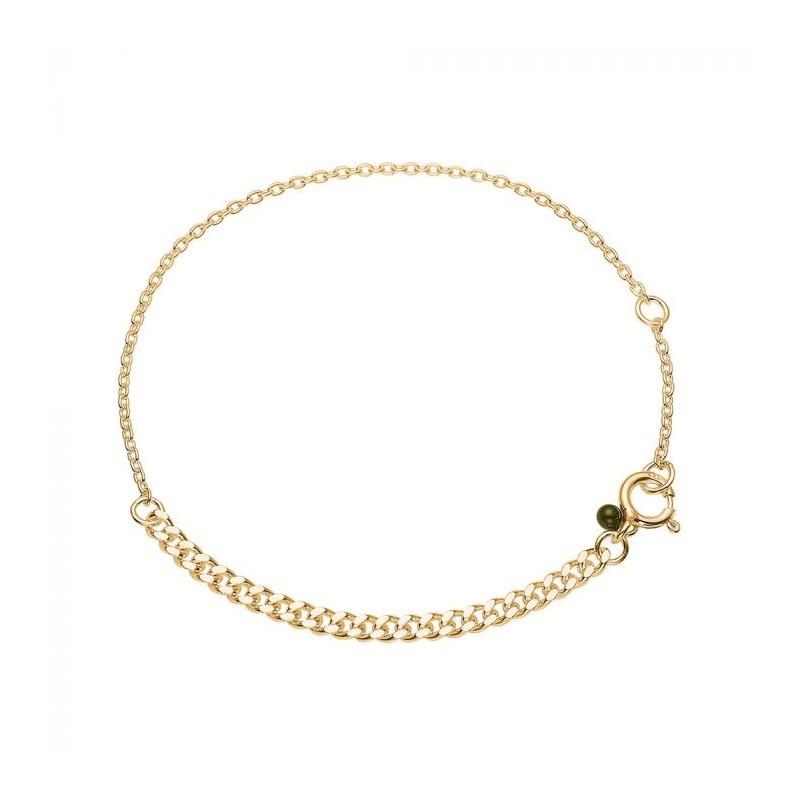 enamel – Enamel armbånd, divided, guld på superlove