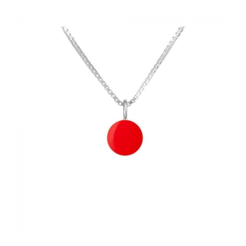 scherning – Scherning halskæde, spot, sølv/rød på superlove