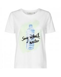 Nümph T-shirt, Superbox, Hvid/Blå