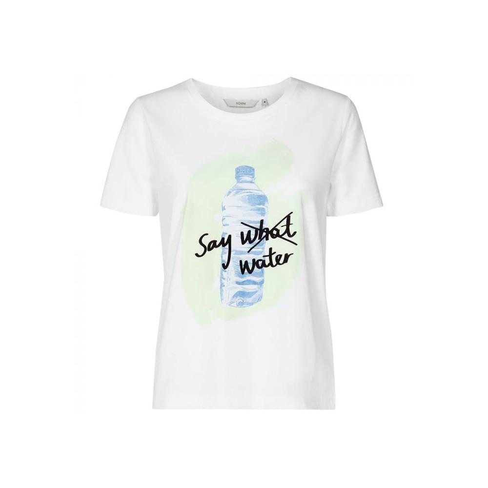 Nümph t-shirt, superbox, hvid/blå - størrelse - s fra nümph på superlove