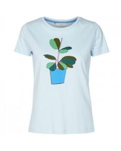 Nümph T-shirt, Superbox, Lyseblå/Grøn