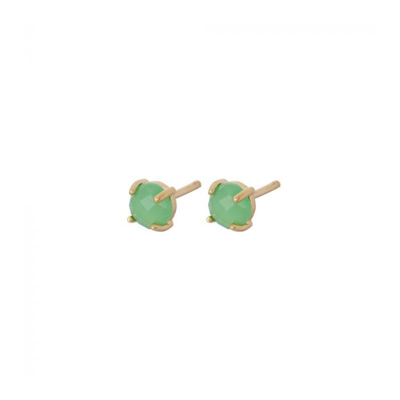 pernille corydon Pernille corydon øreringe, moss, guld/grøn på superlove
