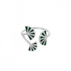 Pernille Corydon Ring, Flare Green, Sølv