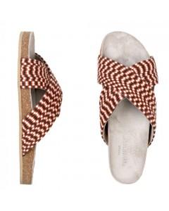 Beck Söndergaard Sandaler, Stripes, Rød/Hvid/Sort