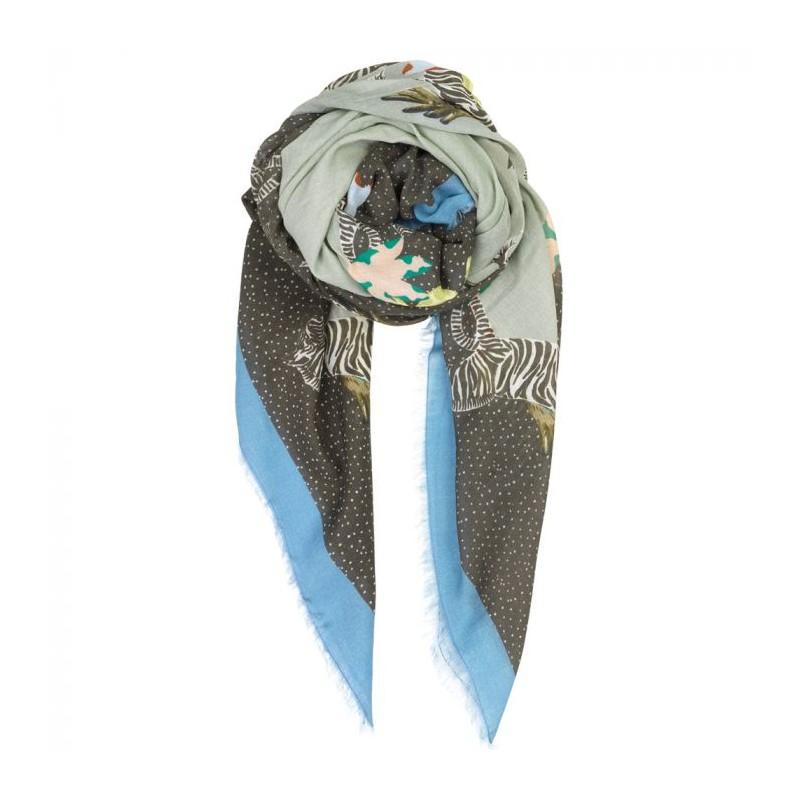 beck söndergaard – Beck söndergaard tørklæde, zenobia, blå/mint fra superlove