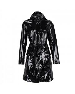 Rains Regnjakke, Glossy Curve Jacket, Sort