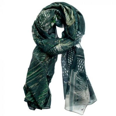 Inspired-By Tørklæde, Botanisk Have, Grøn