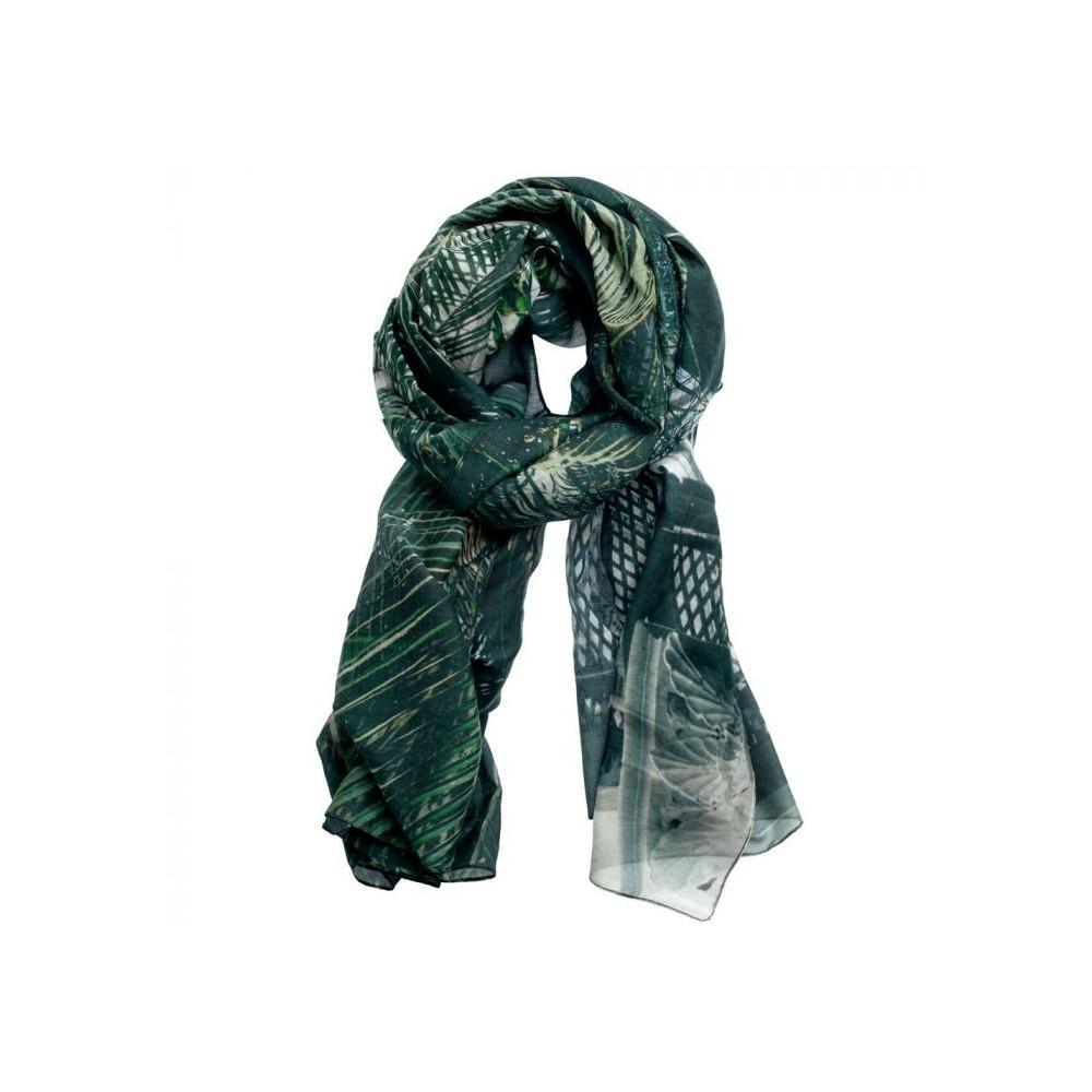 inspired by – Inspired-by tørklæde, botanisk have, grøn på superlove