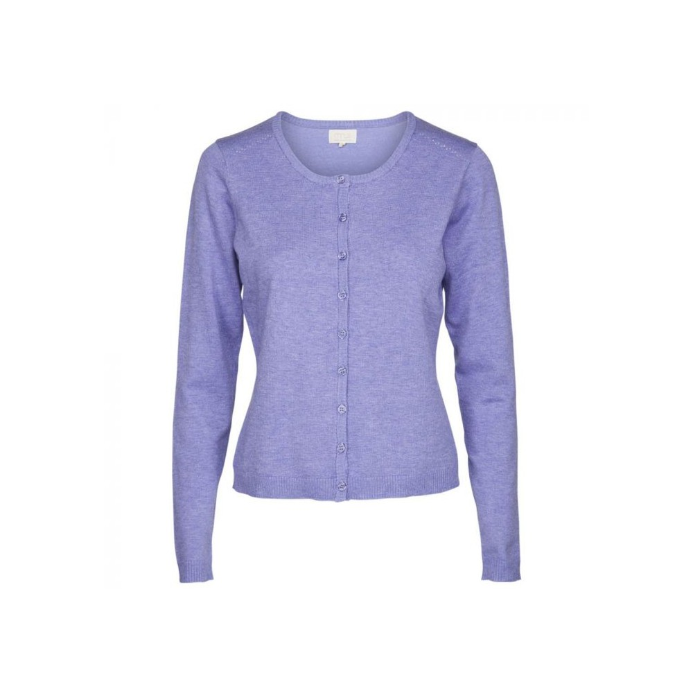 Minus cardigan, new laura, pale purple melange - størrelse - xxl fra minus fra superlove