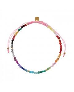 Stine A Armbånd, Rainbow Mix, Pink/Multi