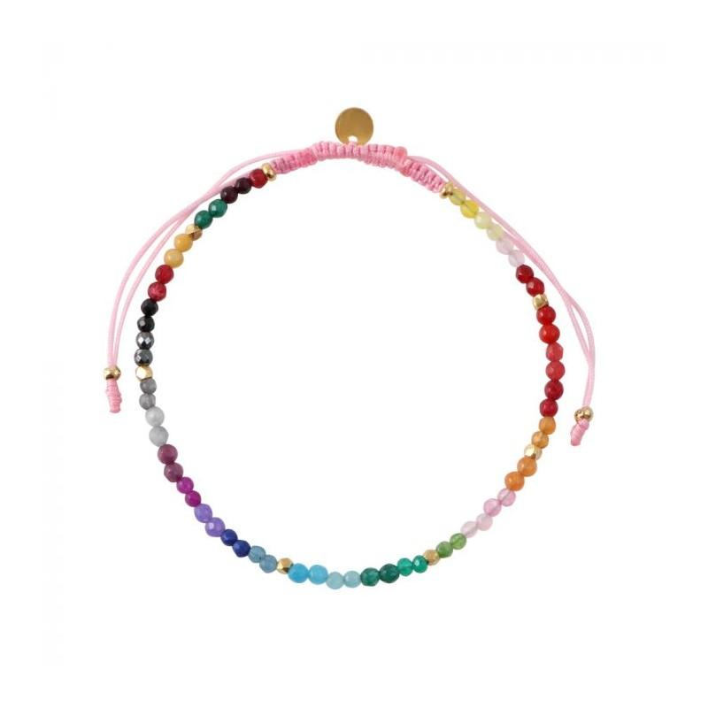 Image of   Stine A Armbånd, Rainbow Mix, Pink/Multi