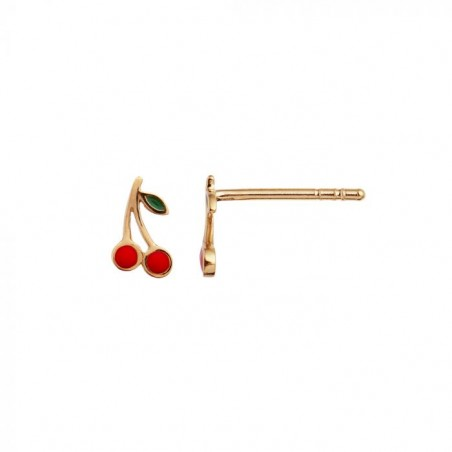 Stine A Ørering, Petit Cherry, Guld/Rød