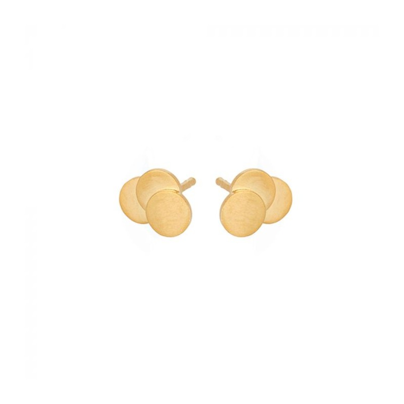 pernille corydon Pernille corydon øreringe, triple coin, guld på superlove
