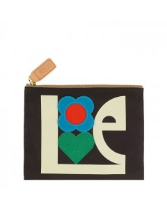 Orla Kiely Makeup Pung, Love Print Applique, Sort