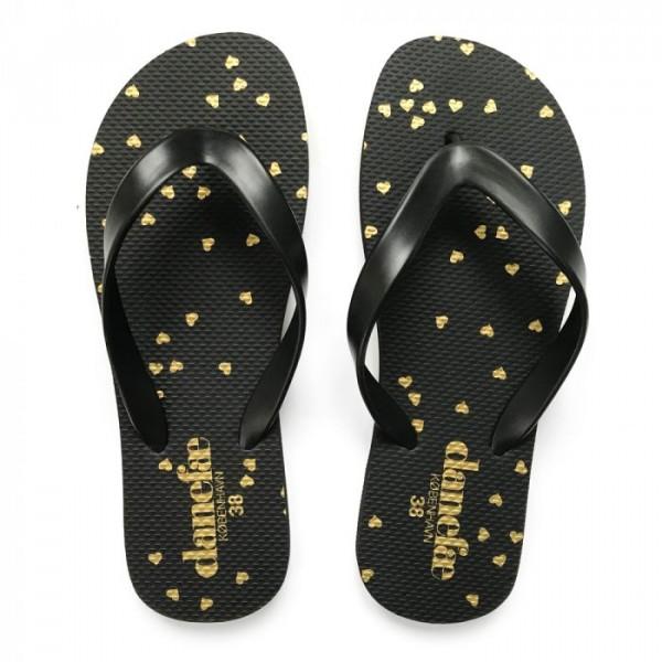 Danefæ sandaler, confetti, sort/guld - størrelse - 37 fra danefæ på superlove