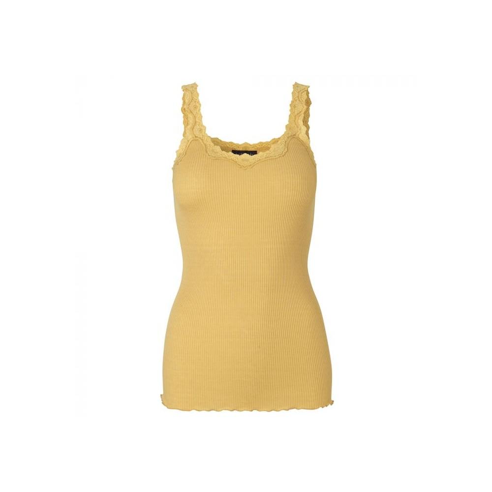 rosemunde – Rosemunde silketop m/blonde 5357, cocoon - størrelse - s fra superlove