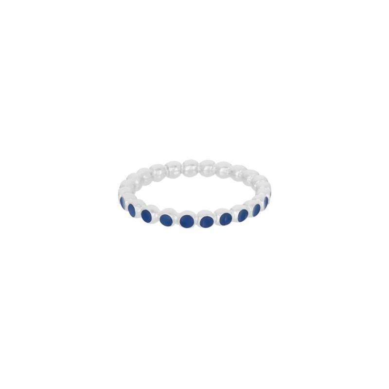 pernille corydon Pernille corydon ring, pixel blue, sølv/blå - størrelse - 52 på superlove