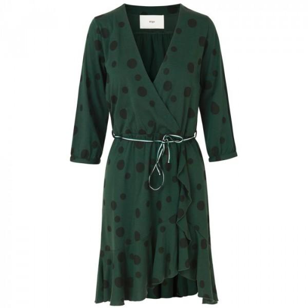 stig p Stig p kjole, leonora dots dress, mørkegrøn/sort - størrelse - l på superlove