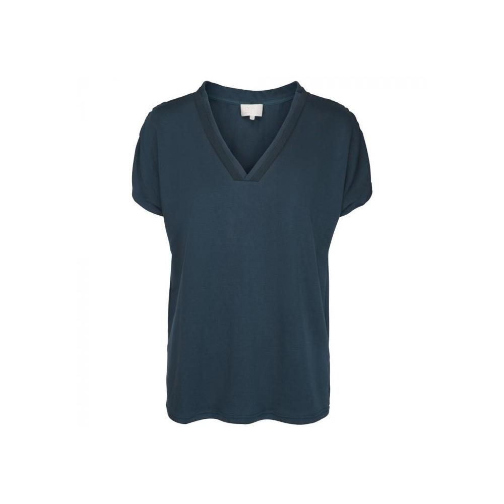 minus t-shirt, dyveke tee, petrol - størrelse - l fra minus