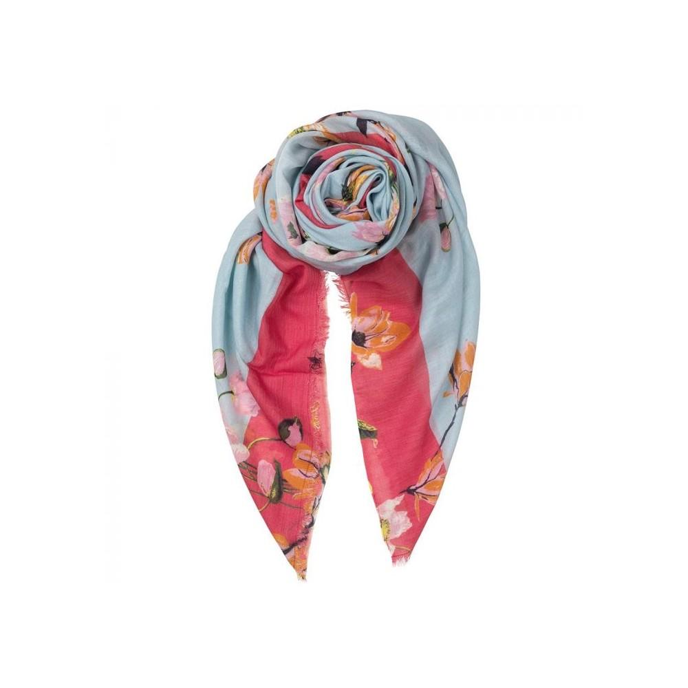 Beck söndergaard tørklæde, tate scarf, blå/rosa/orange fra beck söndergaard på superlove